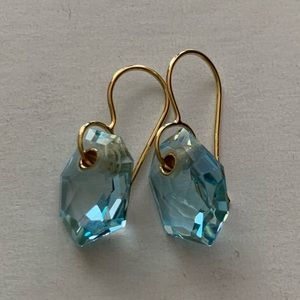 Authentic Ippolita Aquamarine Earrings in 18K Gold